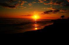 Santa Cruz, California sunset