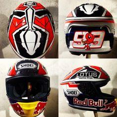 Marc Marquez helmet design by @dudshop
