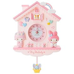 NEW Sanrio My Melody Decorative Pendulum Wall Clock Pink frm Japan F/S