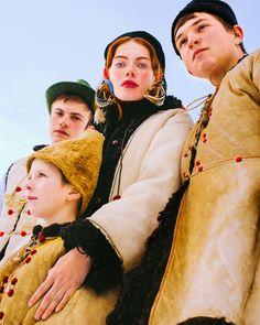 Vogue Ukraine January 2017 Julie Pelipas, Kristina Lisovenko and Vita Filonenko by Elizaveta Porodina