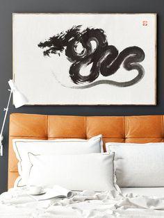Dragon - surreal big original painting. https://www.etsy.com/listing/233797623/dragon-surreal-painting-original?ref=shop_home_active_9