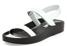 Balenciaga Pads Flat Leather Sandals