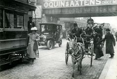 The giraffe in the telephone box was a bit weird, but this is even more bizarre. However this time, it's the real thing as Mr Gustav-Greis guides his zebra and trap along a road in Brixton, which at that time was an affluent area of London. The period is around 1912, or maybe a bit later and although there is plenty of activity, no-one seems to be taking any notice of this unusual mode of transport. But I think Bridget Riley would approve www.op-art.co.uk/op-art-gallery/bridget-riley/intake