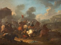 Combat between Cavaliers and Roundheads