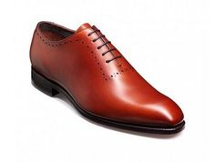 Barker Alderney is from the Barker Handcrafted Collection, Barker Alderney is a classic Oxford with subtle detailing around the lacing section and ankle. This style is made on an elegant last shape with an elongated toe. This is an FX fitting and so is between a standard and wide fit. Available in either rich Rosewood Calf or simple Black, the Alderney is primarily a formal style.   http://www.robinsonsshoes.com/barker-alderney.html