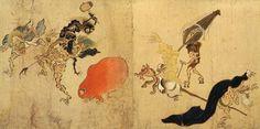 百鬼夜行(ひゃっきやぎょう、ひゃっきやこう)とは、日本の説話などに登場する深夜の町を集団で徘徊する鬼や妖怪の群れ、および、彼らの行進である。 この群れに出会った人間は、大抵念仏やお札を握りしめて生還したとなっている。 ようするに宗教関係の宣伝なんだと思う。   ↑『百鬼夜行絵巻』 作者