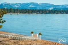 Photo by Theilen photography www.theilenphoto.com - #laketahoe #ceremony #love #wedding #lake #beach #flowers Beach Flowers, Top Wedding Photographers, Lake Beach, Lake Tahoe Weddings, Still In Love, Wedding Story, Wedding Locations, Wedding Couples, Beautiful Images