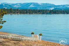 Photo by Theilen photography www.theilenphoto.com - #laketahoe #ceremony #love #wedding #lake #beach #flowers