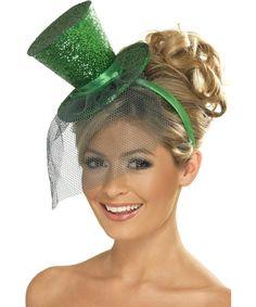 Mini sombrero de copa de Saint Patrick  Este mini sombrero verde con  lentejuelas está atado af456f1d2abd