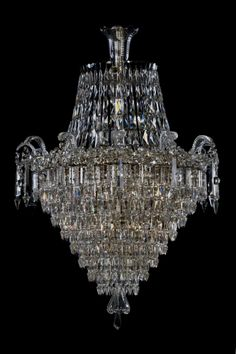 A Fine Tent and Shower Waterfall Chandellier  French, Circa 1900.