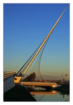 Calatrava Bridge At Sunset   Hoofddorp, Noord Holland