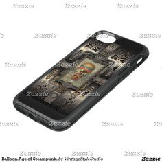 Balloon.Age of Steampunk. OtterBox Symmetry iPhone 7 Case★ #Steampunk #Samsung #iphone #Cases #S6 #S7 #ipad #samsunggalaxys #victorian #phonecases #accessories #gosstudio