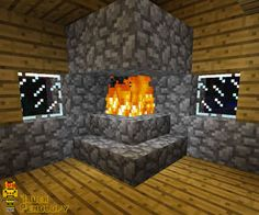 How to make a Fireplace that won't burn your House down in Minecraft-- you would not BELIEVE how hard this is...