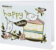 Amazon Gift Card - Print - Happy Birthday (Birds)