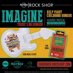 Imagine is a Global Program to help in the fight against hunger and poverty through support of sustainable agriculture education and nutritional feeding programs for children in need around the world. www.hardrock.com/shopimagine