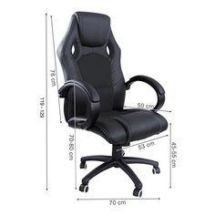 Songmics 119-129cm Racing silla para oficina con respaldo alto Negro OBG26B - http://vivahogar.net/oferta/songmics-119-129cm-racing-silla-para-oficina-con-respaldo-alto-negro-obg26b/ -