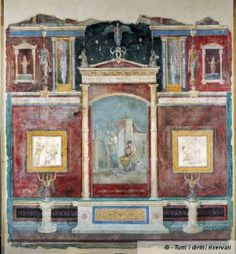 Fresco from the Villa of the Farnesina. Palazzo Massimo alle Terme. Roma