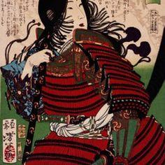 Depiction of one of the earliest samurai women of Japan, the Empress Jingu, who lead an invasion of Korea in the second century CE.: The Most Famous Female Samurai: Tomoe Gozen Female Samurai, Samurai Armor, Japanese History, Asian History, The Empress, Tomoe, Tattoo Sleeve Designs, Japan Art, Tattoo Inspiration