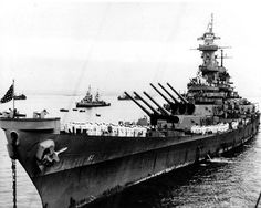 "lex-for-lexington: """"USS Missouri anchored in Tokyo Bay, Japan, 2 September the day that Japanese surrender ceremonies were held on her deck. Uss Texas, Uss Iowa, Battleship Missouri, Us Battleships, Us Navy Ships, Armada, United States Navy, Pearl Harbor, Hale Navy"