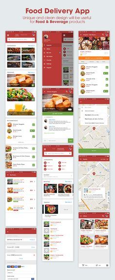 Buy - Mobile UI KIT for Food & Beverage App Ecosystem by ntmediasoft on ThemeForest. is a mobile UI KIT which includes super high quality, retina ready, pixel perfect and all-vector-based sc. Android App Design, Android Ui, Free Android, Web Design, App Ui Design, Food Design, Graphic Design, Pizza Delivery App, Delivery Food