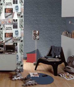 Dutch Wallcoverings Freestyle Brick Anthracite Gray – Graffiti World Graffiti Wallpaper, Paper Wallpaper, Graffiti Cartoons, Office Desk, Dutch, Furniture, Beautiful, Home Decor, Wallpapers
