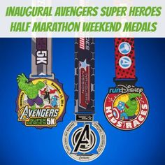 2014 Inaugural Avengers Super Heroes Half Marathon Weekend Medals | Avengers Half | Running at Disney #runDisney #AvengersHalf #Disneyland