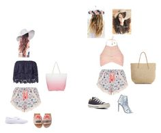 """Let's go to the beach!!!🏊🏽🏊🏽🏄🏽🏄🏽.🚘🚘🏖🏝"" by queennakayla08 ❤ liked on Polyvore featuring New Look, Miguelina, River Island, Kate Spade, Vans, Steve Madden, Converse, Eric Javits, South Beach and Target"