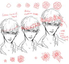 Drawing a Flower's wreath tutorial - on bakrua.tumblr.com
