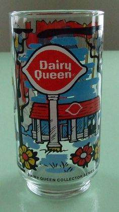 Vtg Dairy Queen Collector Series 1976 Drinking Glass