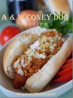 A &  W Coney Dog recipe@ChopinandMysaucepan meat sauce