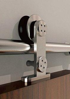 Hahaemall 6.6FT Single Door Set Modern Stainless Steel Sliding Barn Door Hardware for Wood Doors Hahaemall http://www.amazon.com/dp/B0177Q3NZ8/ref=cm_sw_r_pi_dp_KNo8wb13Z4VE8