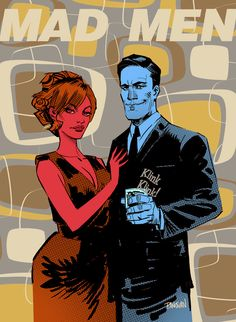 MAD MEN by Dan Panosian AKA urban-barbarian on deviantART. Dan's a cool guy, check out his art!