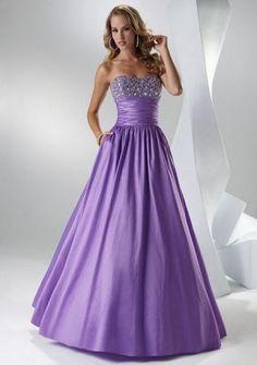 Ball Gown Strapless Floor-length Taffeta Quinceanera Dresses