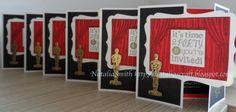 Oscar theme birthday invitations