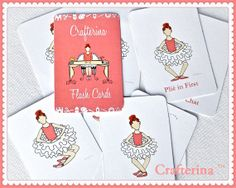 PDF Printable Ballet Flashcards by Crafterina on Etsy, $5.50  www.Crafterina.com