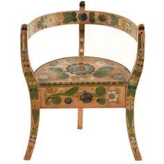 Norwegian Corner Chair With Salmon Background
