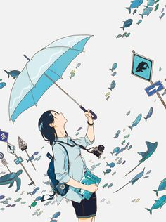 Discovered by Wendy. Find images and videos about art, blue and anime on We Heart It - the app to get lost in what you love. Art And Illustration, Character Illustration, Desu Desu, Image Manga, Anime Kunst, Art Graphique, Anime Artwork, Aesthetic Art, Manga Art