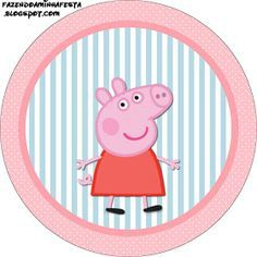 Peppa Pig: Free Printable Labels and Toppers. - Oh My Fiesta! in english Peppa E George, George Pig, Scooby Doo Birthday Cake, Pig Birthday, Birthday Ideas, Cumple Peppa Pig, Pig Cupcakes, Pig Crafts, Oh My Fiesta