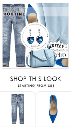 """""""Perfect Blue"""" by lucky-1990 ❤ liked on Polyvore featuring Abercrombie & Fitch and Jimmy Choo"""