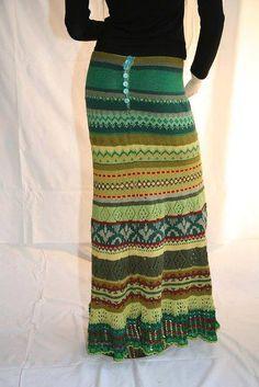 gehaakte rok groen