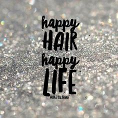 possible text that says 'happy HAIR happy LIFEYou can find Healthy you and more on our website.possible text that says 'happy HAIR happy LIFE Hairdresser Quotes, Hairstylist Quotes, Hair Salon Quotes, Hair Quotes, Hair Sayings, Hair Captions, Salon Promotions, Business Hairstyles, My Hairstyle