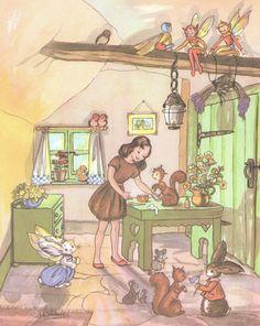 "Vintage Ivy Wallace ""Pookie"" book illustration, via Etsy"