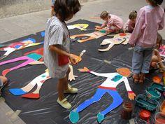 Taller de plàstica amb nens/es de 5 i 6 anys. Treball amb grup. Estiu 2007