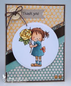 I Wanna Build a Memory: Yellow rose of thank you Digi Stamps, Copic Markers, Distress Ink, Yellow Roses, Homemade Cards, Flower Power, Gift Tags, Hand Sewing, Embellishments
