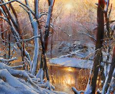 Victor Mordasov - Winter day- Oil - Painting entry - December 2013 | BoldBrush Painting Competition
