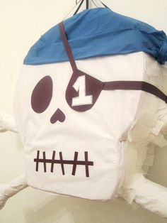 Skull and Cross Bones Halloween Pirate Pinata by PinataMama, $65.00