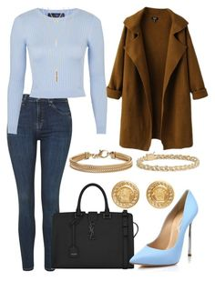 """""""Untitled #141"""" by victorine-b on Polyvore featuring Blue Nile, Topshop, Yves Saint Laurent, Casadei, Versace, Jules Smith, women's clothing, women, female and woman"""