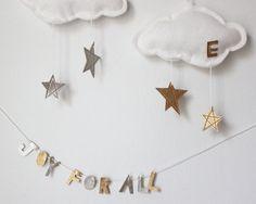Personalized Ornament Star Cloud  modern keepsake by BabyJivesCo, $25.00