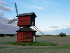 Huissinkylän village windmill. Ilmajoki Finland.