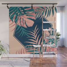 Wonderful Tropical Wall Murals Ideas For Summer In The Home. Tropical wall murals are a great way of creating a tropical paradise right in your child's bedroom. There are so many ways of incorporating an ocean scene into your room that you can just let Wall Design, House Design, Interior Architecture, Interior Design, Room Decor, Wall Decor, Mural Wall Art, Dream Wall, Decoration